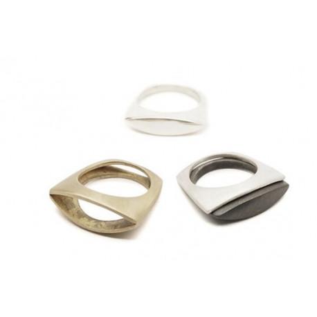 Design ring, messing