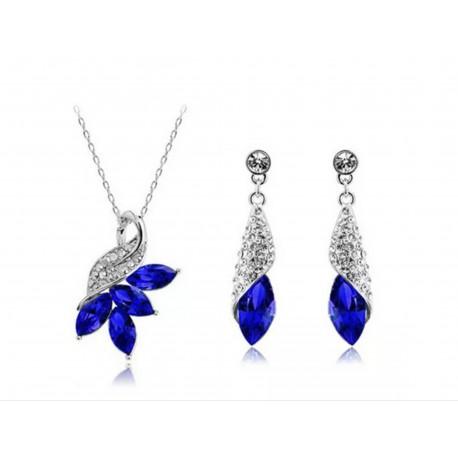 smykkesæt blå